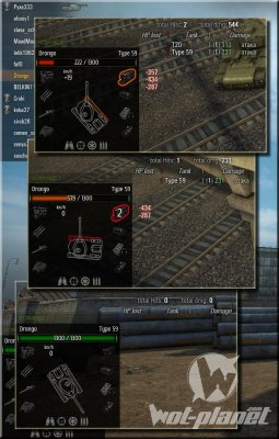 Hitlog + Damage Panel для World of Tanks 0.8.8