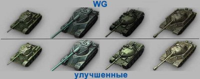Позолоченные иконки прем-танков в ангаре для World of Tanks 0.9.13
