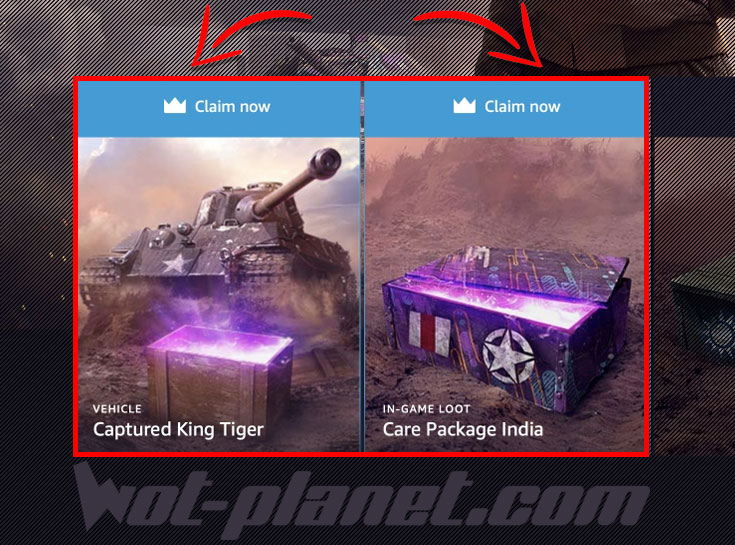 twitch prime world of tanks claim now