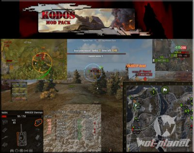 Kodos mod pack для World of Tanks 0.9.3