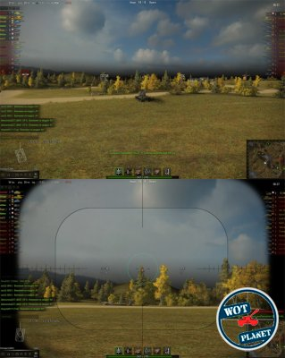 No Sniper Scroll для World of Tanks 0.9.13
