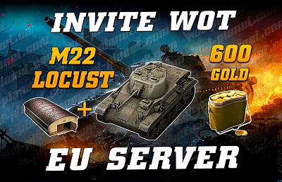 Invite-link for EU WoT server (April 2021): M22 Locust + 600 Gold